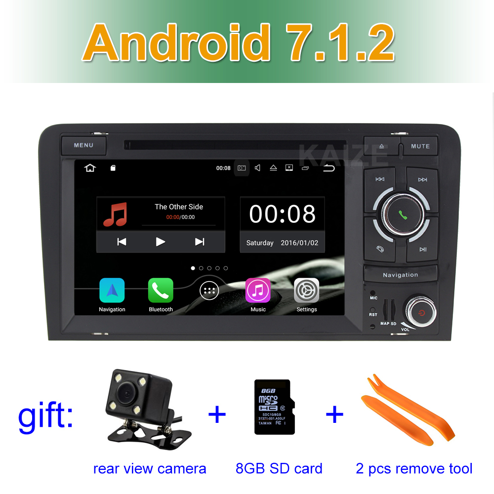 2 GB RAM Android 7.1 Car DVD Video Player radio for Audi A3 2003 - 2011 S3 RS3 with WiFi BT GPS