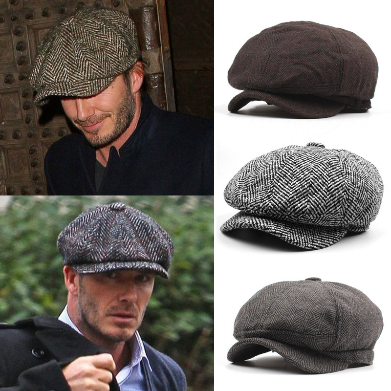 Hat Beret-Hat Peaked-Cap Newsboy-Cap Flat Winter Autumn Male Casual Warm Man And Octagonal