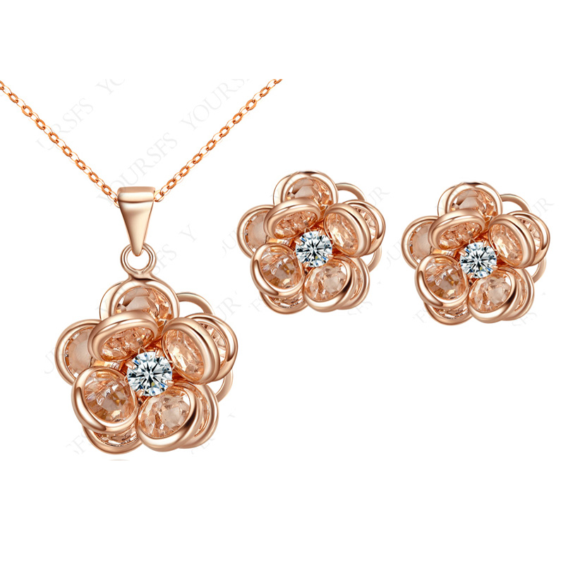 MOONROCY Free Shipping Fashion Jewelry Rose Gold Color ...