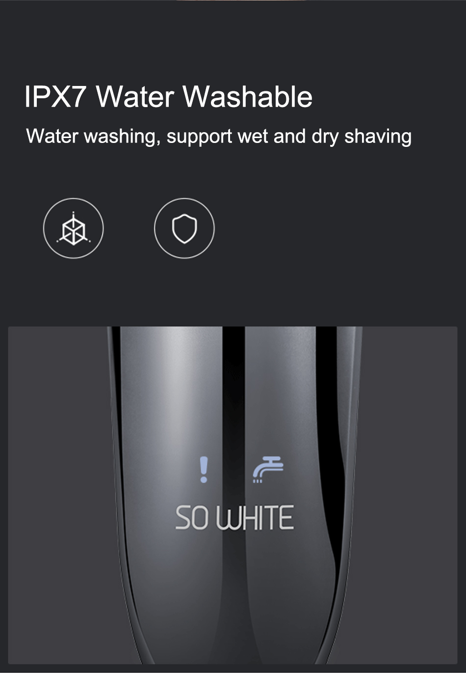 Xiaomi Soocas SO WHITE Electric Razor Shaver For Men With USB Rechargeable And 3D Smart Control 10
