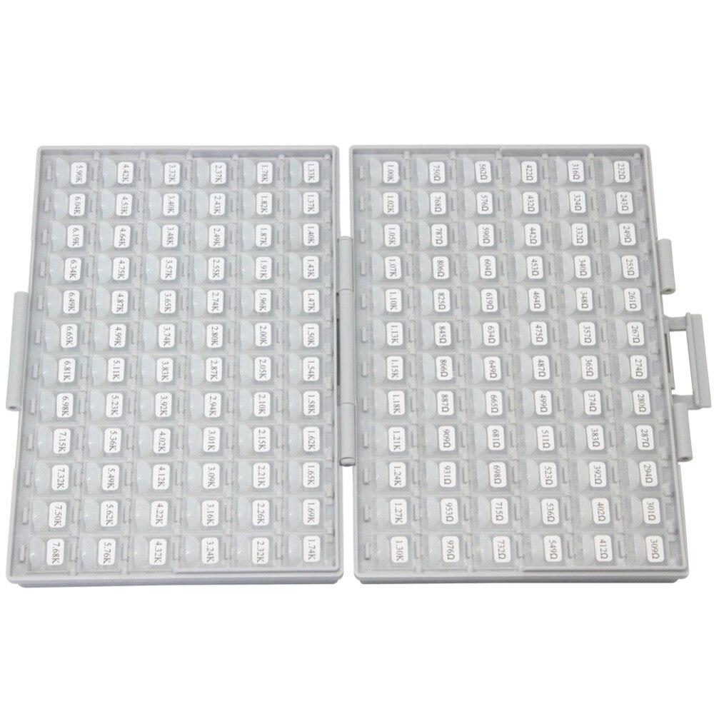 AideTek 1206 коробка резисторов наборы E96 серии 1% RoHS 491V x 100pcs распределенные 4 коробки-все пластиковые хранения organization R12E96100