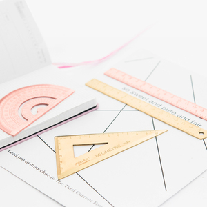 Image 2 - 3pcs/set Triangle Ruler Set Metal Stationery Protractor Ruler Office School Squares Protractor