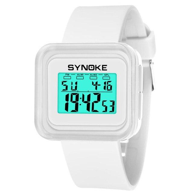 Multi-Function 50M Waterproof Watch LED Digital Double Action Watch Sport Wrist Watch Kid Girl Boy Clock Relogio Feminino 2018