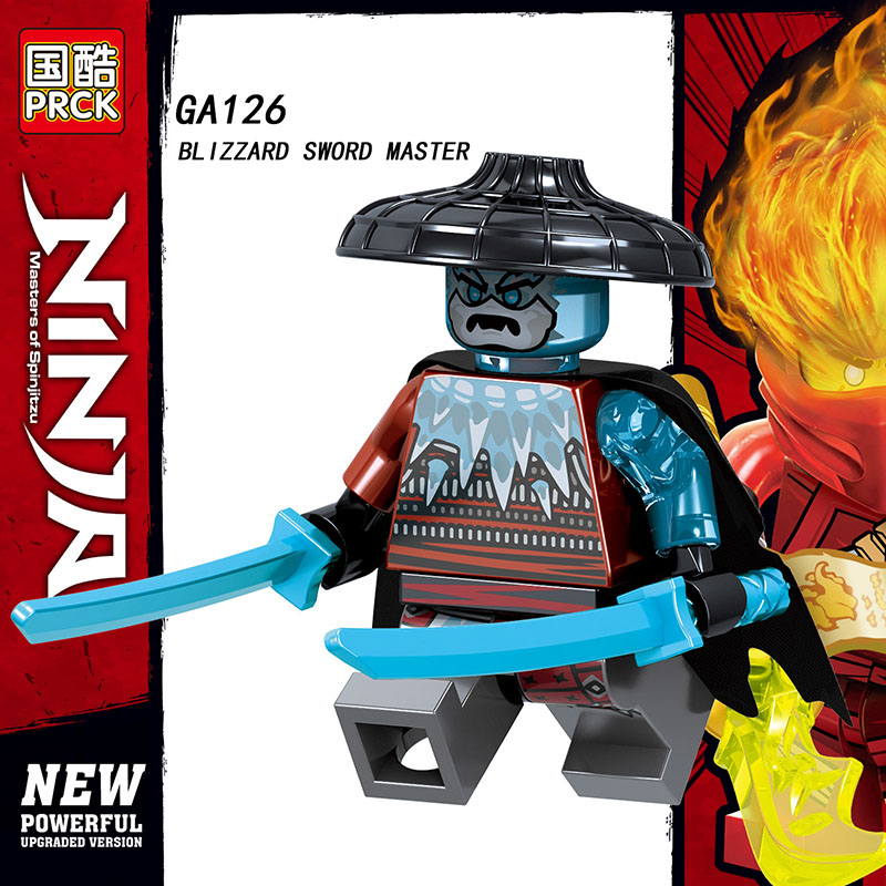 Single Sale LegoINGlys Blocks Ninjagoes Weapon BLZZARD WARRIOR SWORDSMAN SWORD MASTER Action Bricks Toys For Children Gifts