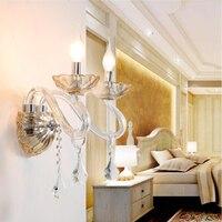 Moderne LED kristall wand lampen Minimalistischen hause leuchte wandleuchter wohnzimmer TV hintergrund schlafzimmer kristall wand licht-in LED-Innenwandleuchten aus Licht & Beleuchtung bei
