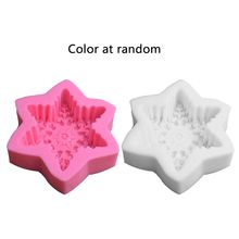 Big Size Snowflake Silicone Resin Mold Soap Wax Candle Jewelry Art Craft Tools