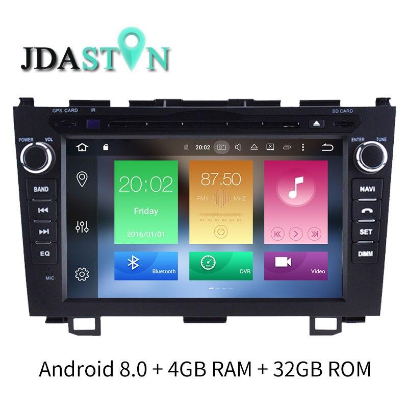 JDASTON 8 дюймов 2 DIN Android 8,0 автомобиль DVD мультимедийный плеер для HONDA CRV CR V gps навигации радио WI FI рулевого управления колеса головного устройств