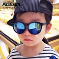 KDEAM 2016 New Hollow Temples Oversized Round Sun Glasses Kids Sunglasses Coating Mirror Anti-UV Boy Girl Children Glasses gafas