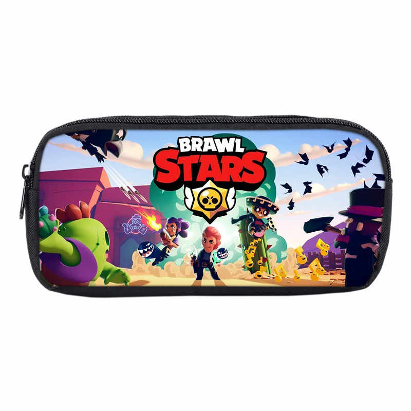 2019 Hot Game Brawl Stars Bags Students Pen Bag Casual Pencil Pouch For Boys Girls School Gifts Game Anime School Pouch Bags