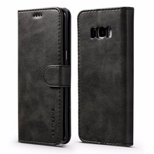 Luxury Leather Flip Case For Samsung Galaxy S8 Plus Shockproof Wallet Cover Cases Card Holder for S8+