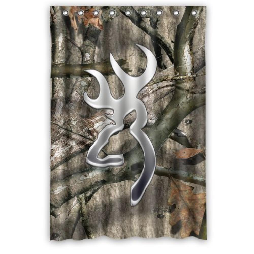 Tree Camo Metal Browning Shower Curtain Pattern Customized Shower Curtain Waterproof Bathroom Fabric Shower Curtain For Bathroom