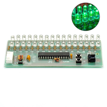 MCU Adjustable Display Pattern LED VU Meter Level Indicator Amplifier Audio 16 LED Dual Channel