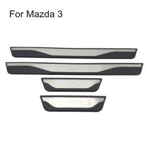 Image 3 - Voor Mazda 3 AXELA 2014 2015 2016 2017 2018 Auto Instaplijsten Scuff Plaat Guard Welkom Pedaal Cover Stickers Auto styling Accessoires