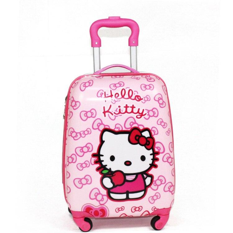 Barn Dra Stång Box PVC Spinner 16-tums 20-tums barn babyväska - Väskor för bagage och resor - Foto 4