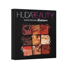 Hudas Beauty Palette Makeup Cosmetics Diamond Glitter Metallic 9 Color Nude Pigmented Professional Mini Eyeshadow