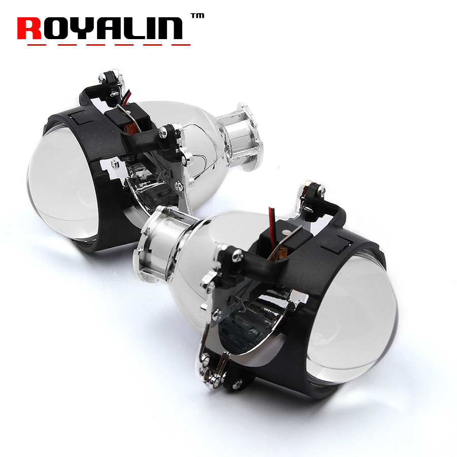 ROYALIN Car Bi Xenon Projector Headlights Lens 2.5 2.8 Mini D2S For BMW 5 E39 2001-2004 Facelift Xenon Light Mercedes W204 C200