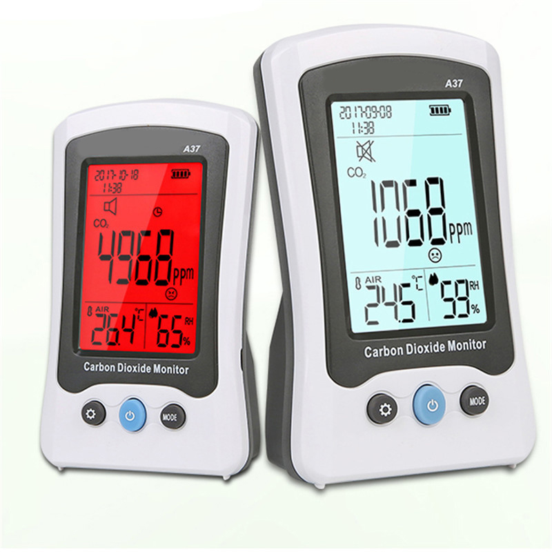 Gas Analyzer Carbon Dioxide Detector CO2 Monitor Thermometer Hygrometer Temperature Humidity Meter Portable Digital Gas Tester digital indoor air quality carbon dioxide meter temperature rh humidity twa stel display 99 points made in taiwan co2 monitor