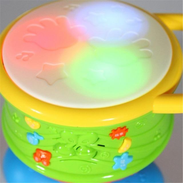 Crianças instrumentos musicais tambor crianças brinquedo luz colorida do bebê educacional lidar com rolo Beiens presente Kit acústico - superfície óptica