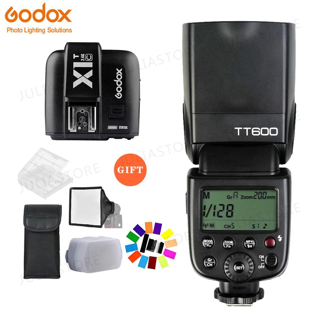 Godox TT600 2.4G Wireless Camera Flash Speedlite + X1T-C Transmitter for CanonGodox TT600 2.4G Wireless Camera Flash Speedlite + X1T-C Transmitter for Canon