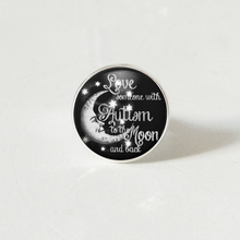 Love Someone with Autism To The Moon and Back Photo Tibet Silver Cabochon Glass ring все цены