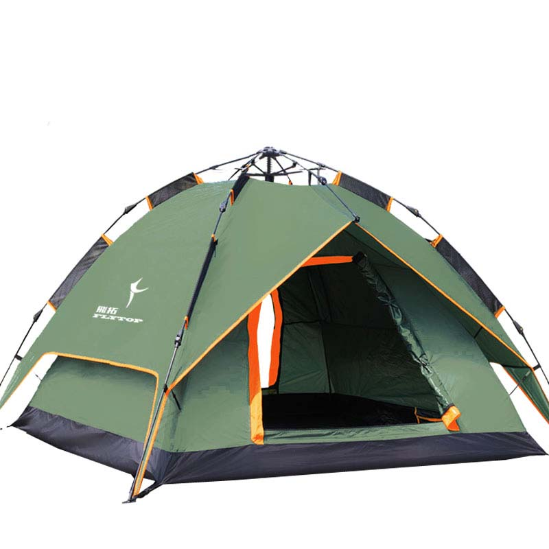 FLYTOP Outdoor Quick Automatic Opening Camping Tent Family 4 Person Tourist Fishing Automatic tent hiking travel Portable tents outdoor double layer 10 14 persons camping holiday arbor tent sun canopy canopy tent