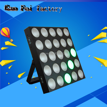 Led de alta potencia 25 piezas * 10 w RGB 3IN1 COB LED matriz luz led intermitente dmx disco iluminación puede único de control
