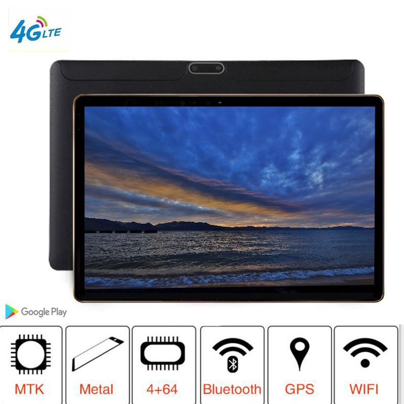 2019 T805C Mais Novo tablet PC 3G 4G LTE FDD Android 8.1 Octa Núcleo RAM 8 4 GB ROM 64 GB Wi-fi GPS 10.1 '8MP tablet IPS Tela + Gift