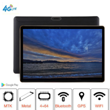 2019 T805C Newest tablet PC 3G 4G LTE FDD Android 8.1 8 Octa Core RAM 4GB ROM 64GB WiFi GPS 10.1' tablet IPS Screen 8MP + Gift