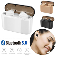 Bluetooth 5.0 Earphones TWS Wireless Earbuds Bass Stereo Cordless Headsets with 2200 mAh Charger Box Mic for iPhone Android