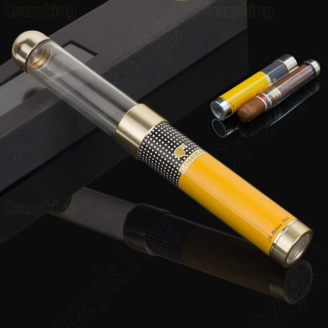 Classic Flexible Antihunting Holder Travel Cigar Tube Humidor