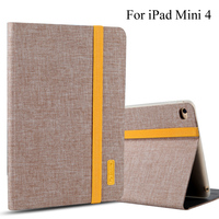 Case For IPad Mini 4 Smart Cover Tablet Silicon Cloth PU Leather Sleep Wake Shell For