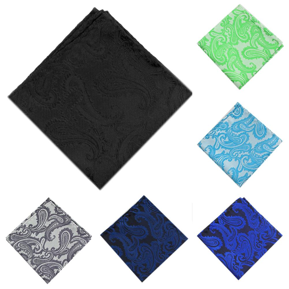 Men Jacquard Weave Pocket Square Towel Handkerchief Wedding Party Hanky Gift New