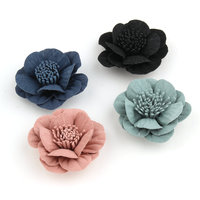 Son çıkan El Yapımı Kumaş Çiçek Patch Sticker Craft 20 ADET 48 MM DIY Takı Aksesuarları Malzeme Craft Kız Saç Klipler Kafa