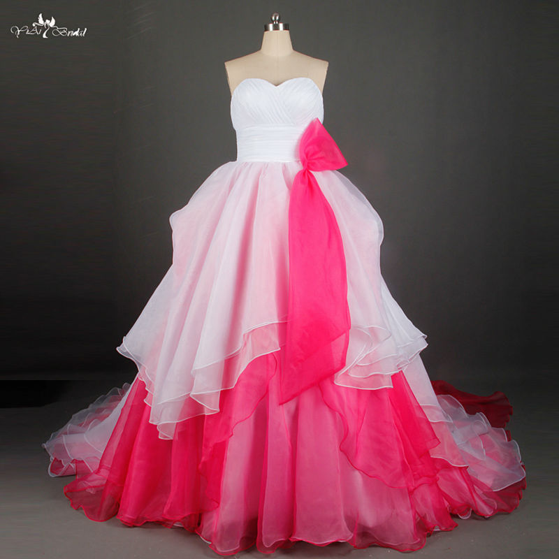 Buy white and pink wedding dress japanese for Free wedding dresses low income