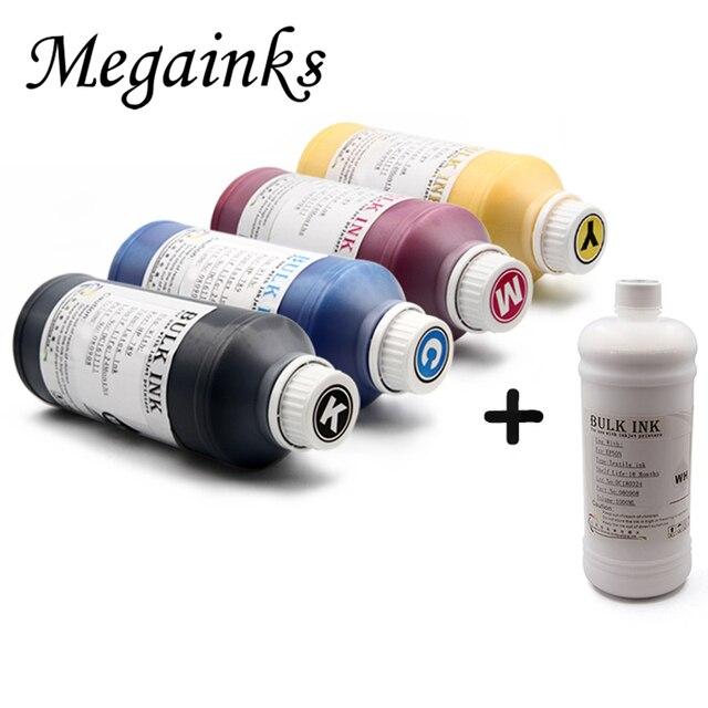 a249e6574 5 Bottle 1000ML DTG Textile Ink for Brother GT-3 Series GT-341 GT-361 GT-381  GT 341 361 381 Digital Inkjet Printer K C M Y White
