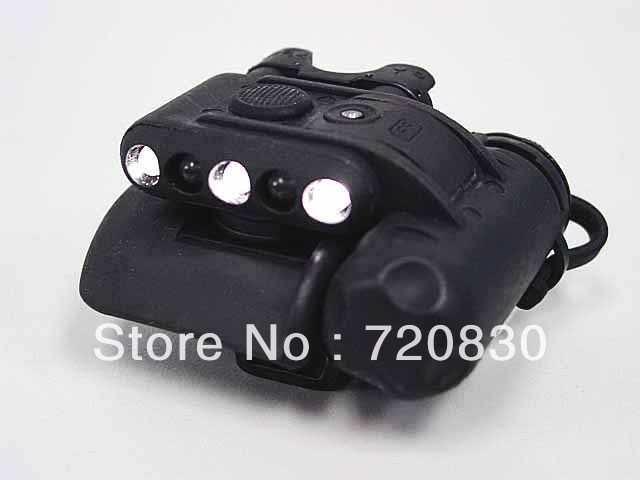 Elemento casco lámpara GEN II casco luz verde/Blanco/IR LED linterna negro