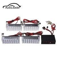Autoleade12V 22x4 Led Car Warning Light Flashing Lamp Emergency Beacon Light Bar Hazard Strobe Light Waterproof