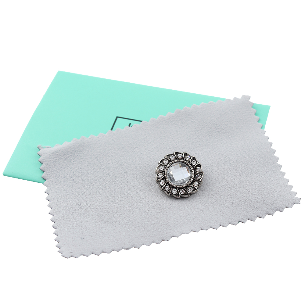 10pcs/lot JaynaLee 7cm*10cm Cotton Impregnated Silver Polishing Cloth With A Silver Cleaner And Anti-tarnish Agent GJF0001