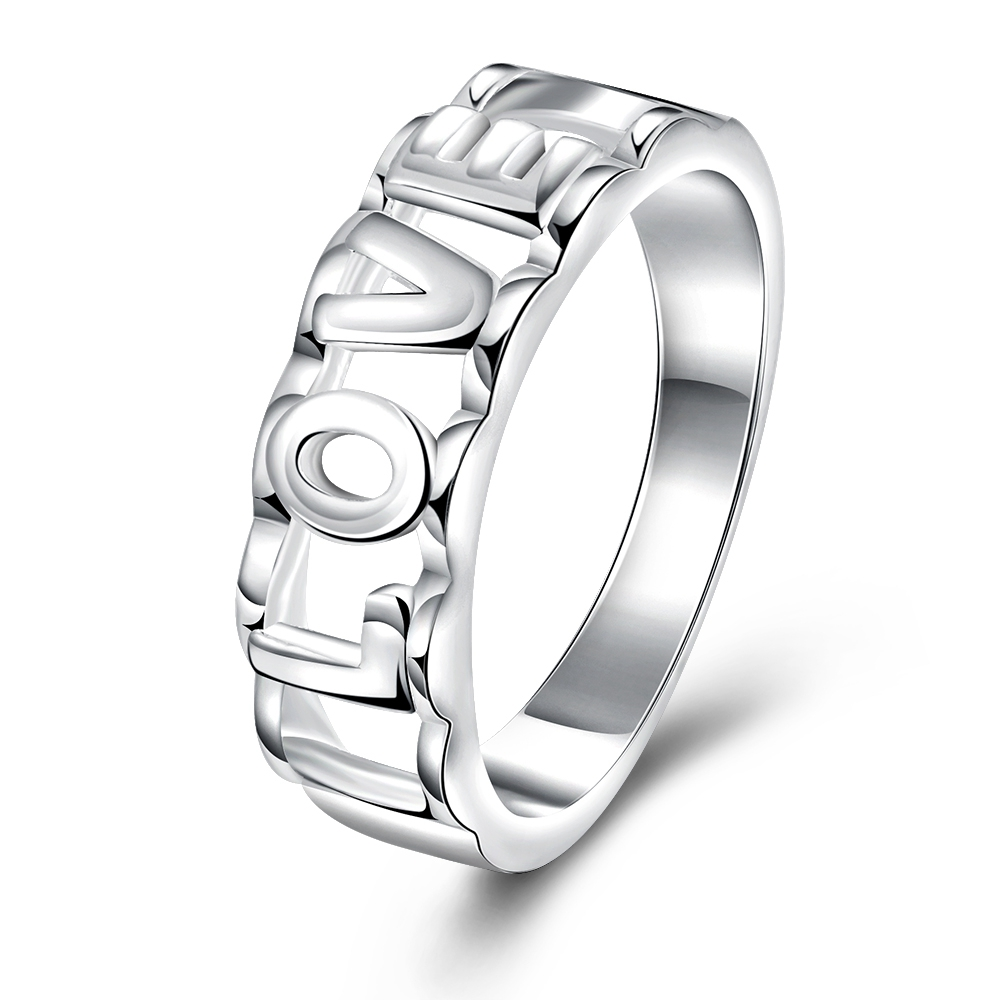 Wedding Ring Charms Women\'S Simple Letter Rings Love For Girls ...