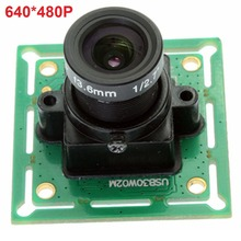 640* 480P 1/4 inch CMOS OV7725 USB 2.0 mini board camera usb smallest usb webcam