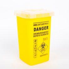 Biomaser1PCS żółty tatuaż medyczne plastikowe Sharps pojemnik Biohazard igła usuwanie 1 rozmiar pojemnik na odpady do tatuażu akcesoria