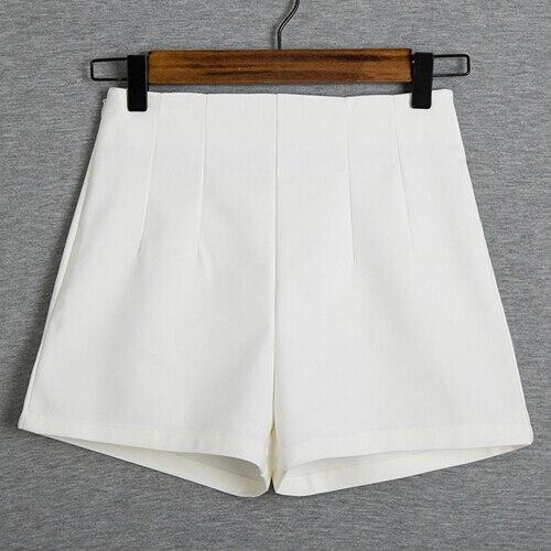 2017 New Summer Fashion New Women Shorts Skirts High Waist Casual Suit Shorts Black White Women Short Pants Ladies Shorts B421