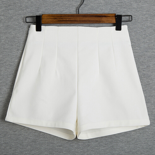 2017 Nueva Moda de Verano Nuevas Mujeres Shorts Faldas de Cintura Alta Shorts Traje Casual Negro Blanco Mujeres Pantalones Cortos de Las Señoras B421
