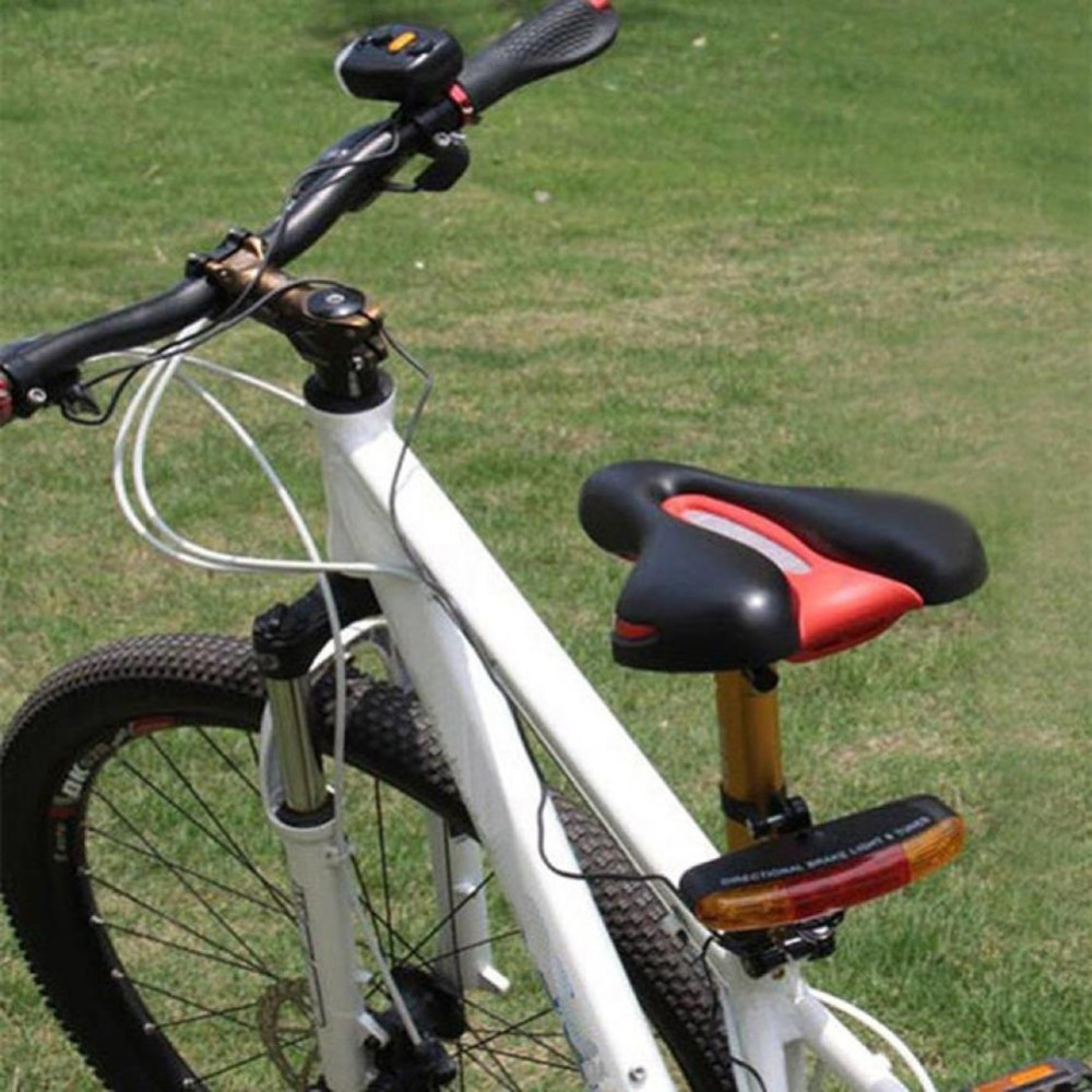 USA 7LED Tail Lamp Brake Stop Turn Signal Light Set For Bike Bicycle Night Lamp