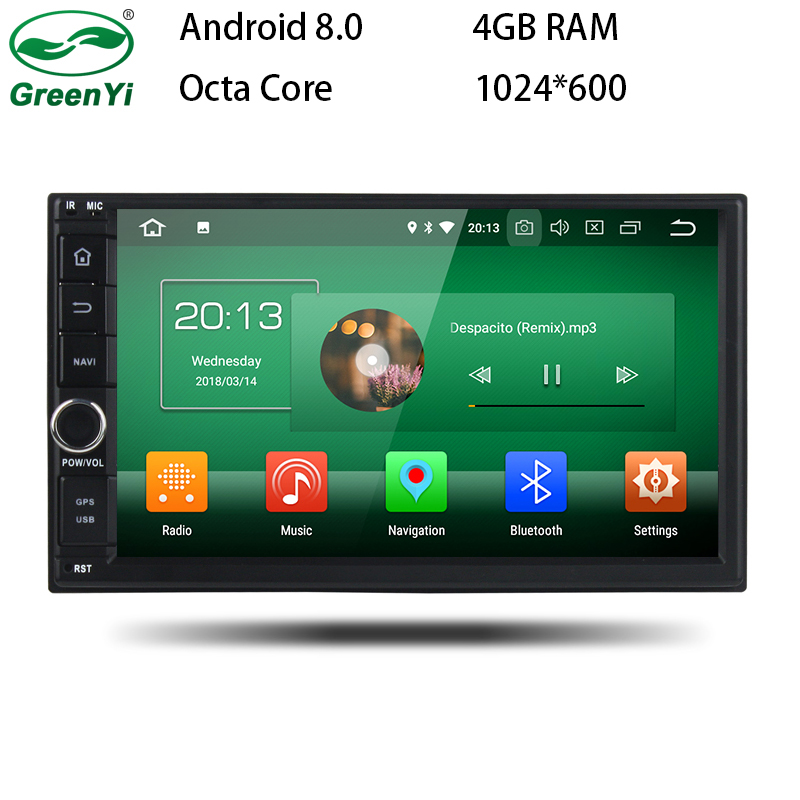 все цены на GreenYi Universal Android 8.0 Car GPS DVD For Nissan Gashqai X-trail Almera Pathfinder Teana Note Juke Multimedia Radio Player