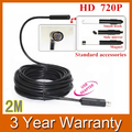720P HD USB Endoscope Borescope Snake Mini 10mm Lens 4 LED IP67 Waterproof Inspection Camera Borescope 2M
