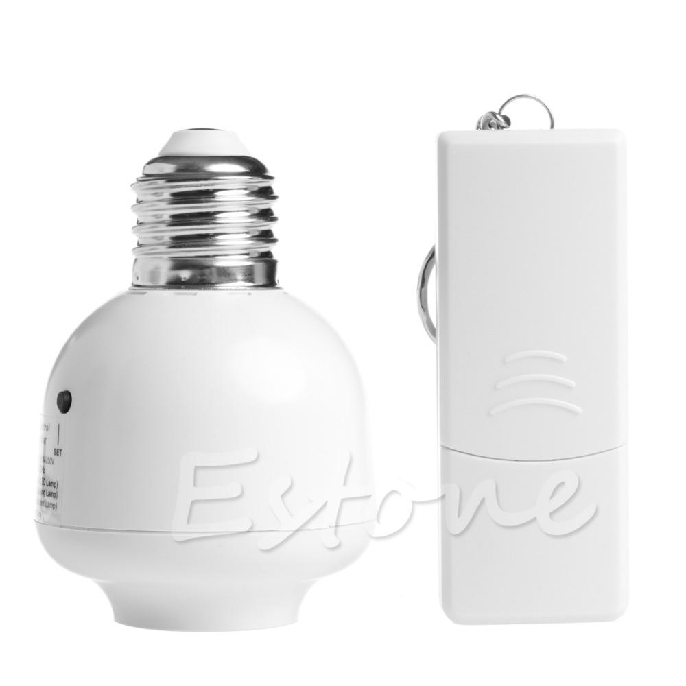 10M Wireless Remote Control E27 Screw Light Lamp Bulb Holder Cap Socket Switch L15