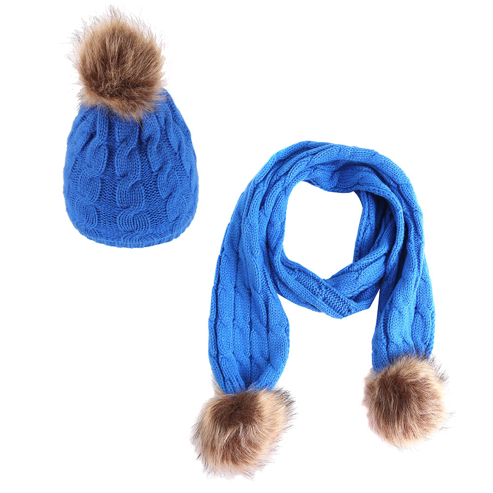 Kinder Kinder Schal Halstuch Stricken Hut Kappe Set Halten Warme Weiche Für Winter Neue ZuverläSsige Leistung