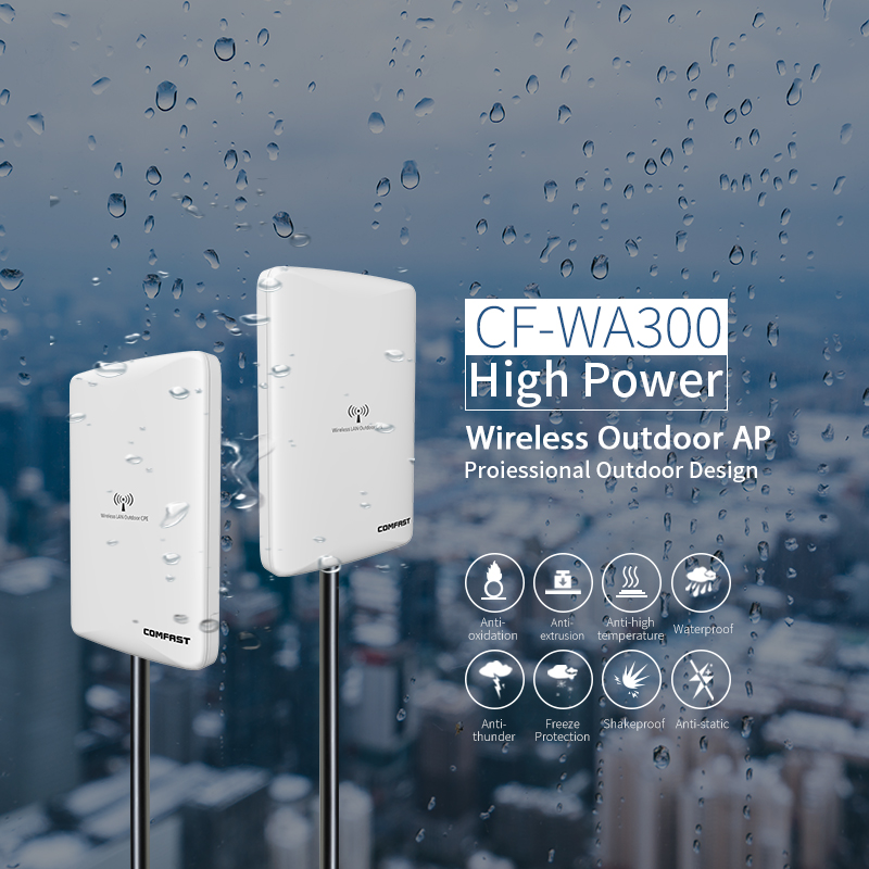 Outdoor Wifi Repeater 2.4GWireless WiFi Amplifier with AP WISP 27dBm Wifi Router High Power Wifi Extender base station AP