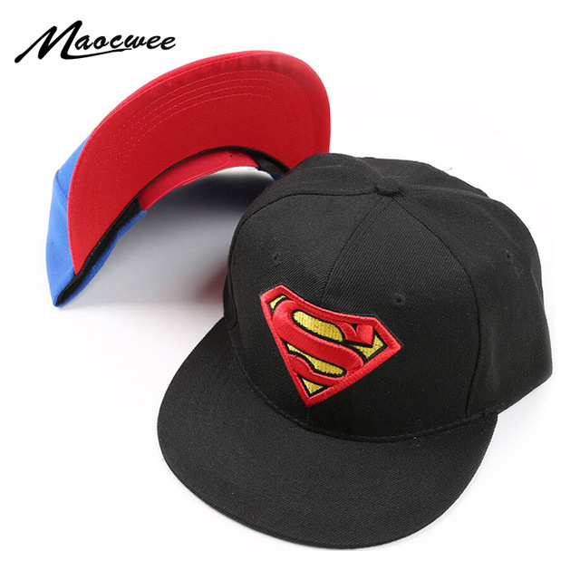 cfac2c93f US $3.99 20% OFF|New High Quality Baby Boys Girls Snapback Hats Children  Batman Superman Baseball Cap Kids Cartoon Hip Hop Hat For 3 8 Years Old-in  ...